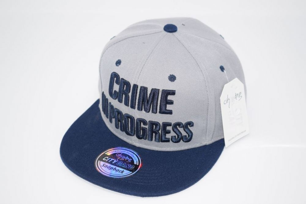 CRIME IN PROGRESS Snapback Cap one size fits all adjustable